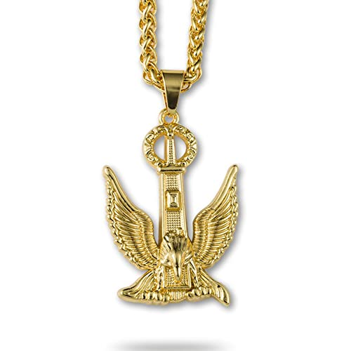 2be983b1697 Image Unavailable. Image not available for. Color  JAJAFOOK Charm Hip Hop  Jewelry Eagle ...