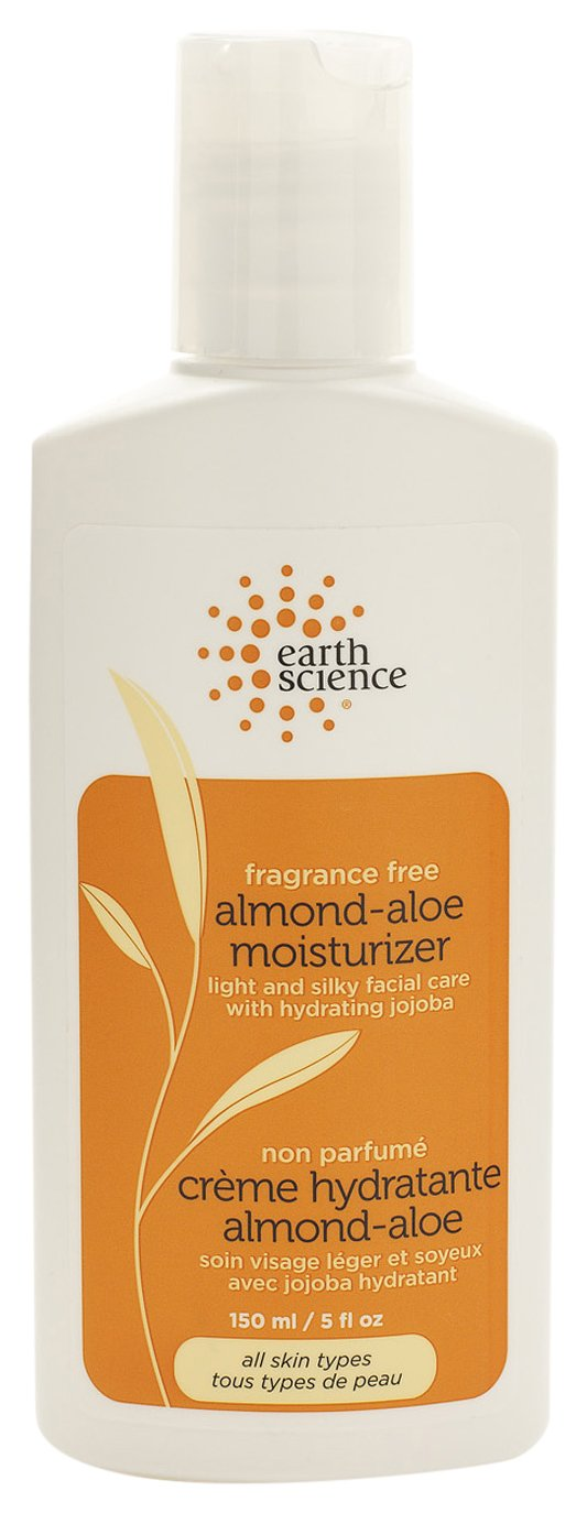 Earth Science Almond-Aloe Fragrance Free Facial Moisturizer with jojoba, shea & hyaluronic acid, 5 oz.
