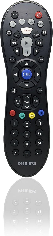 Philips Audio SRP3014/10 - Mando a Distancia Universal para Apple TV y Roku (Televisor, DVD, Blue-Ray, Cable, VCR, DTV, DVR) Color Negro: Amazon.es: Electrónica