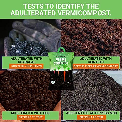 TrustBasket Organic Vermicompost Fertilizer Manure for Plants – 10 KG