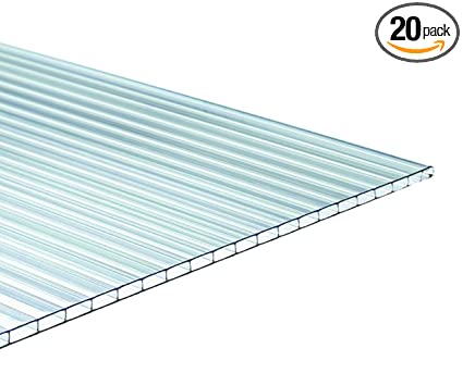TUFTEX 1518A Multi-Wall 6mm Panel-20 Pack, Clear