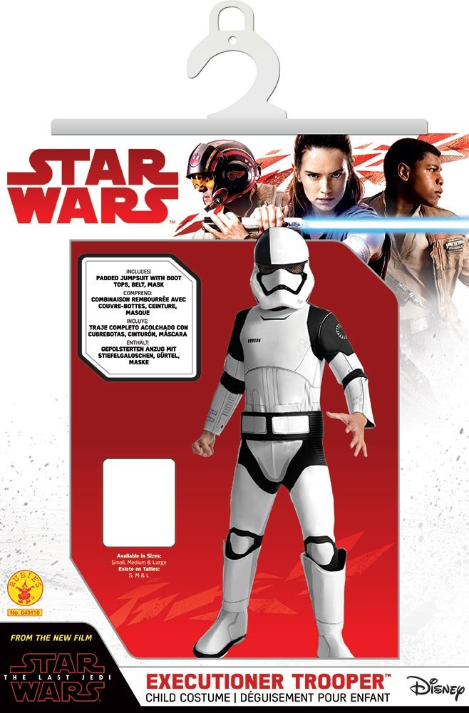 Rubies Star Wars Episode VIII: The Last Jedi, Childs Deluxe Executioner Trooper Costume, Large