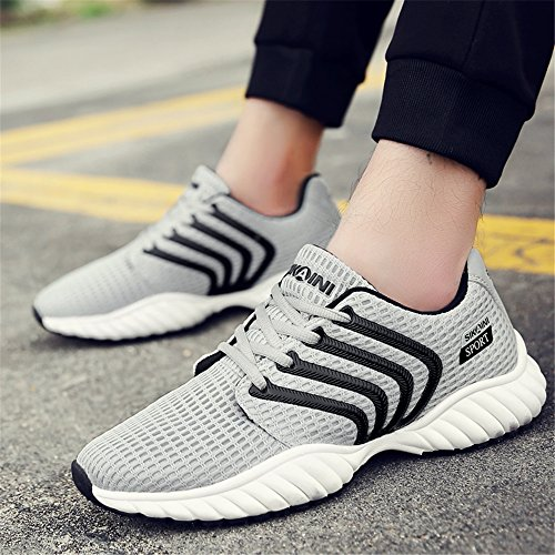 CLAMON Stylish Casual Turnschuhe Laufschuhe Innovative Breathable Design, beste Anti - Rutsch - Design Grau