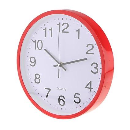 Homyl Reloj de Pared Analógico Diseño Silencioso de Acero ...