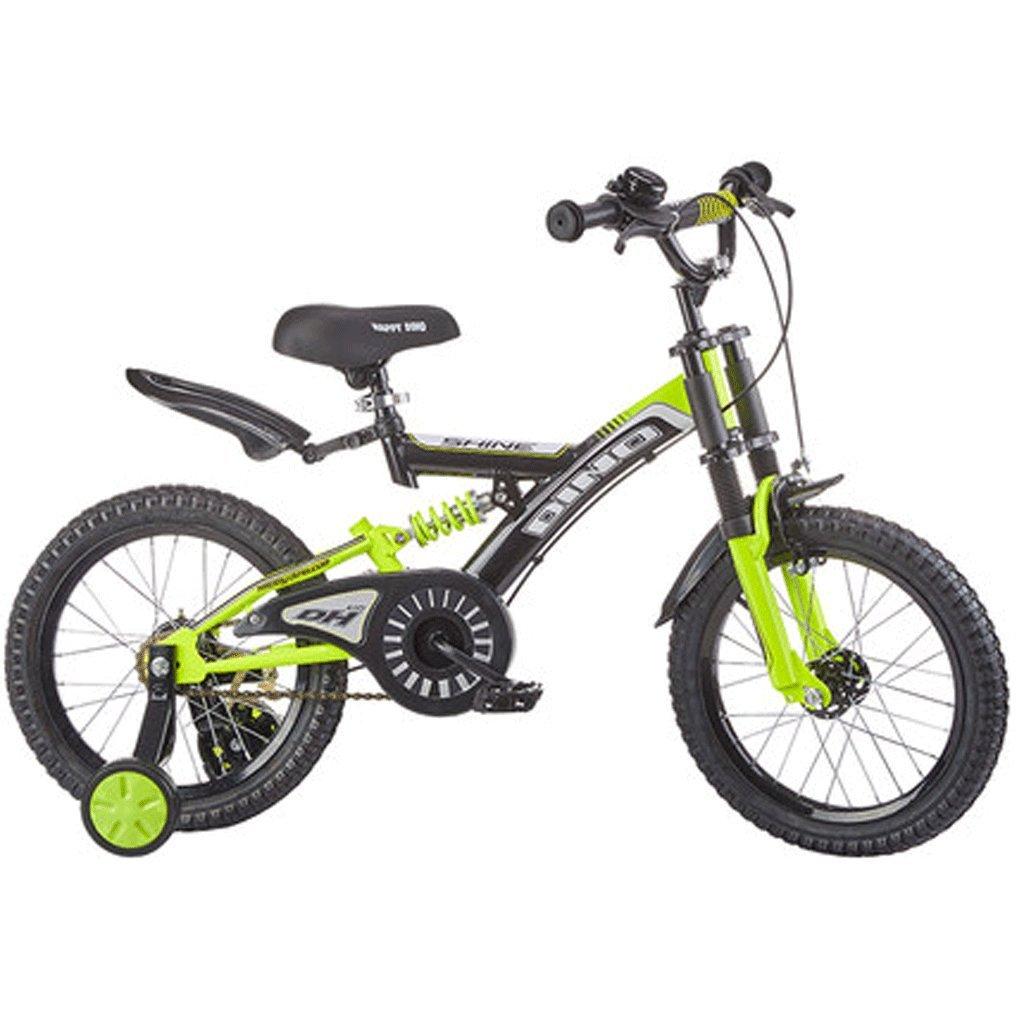 自転車 子供の自転車の男の子3-6歳の赤ちゃんのキャリッジ14インチ16インチ18インチの自転車ダブルショックアブソーバ (サイズ さいず : 16inch) B07DPNTS5816inch