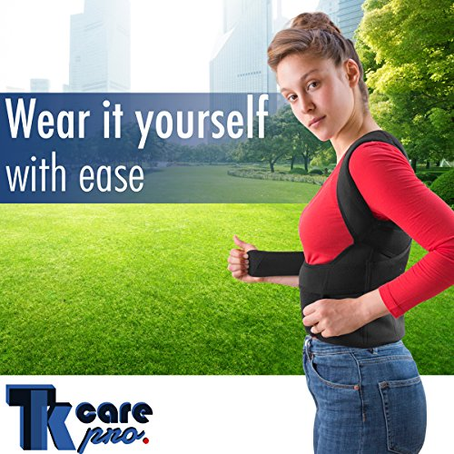 THE ULTIMATE Posture Corrector for Women & Men Under Clothes   Effective & Comfortable   Back Brace for Slouching & Hunching -Shoulders Clavicle Support   Upper & Lower Back Supports   Body Therapy by TK Care Pro. (Image #5)