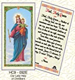 Our Lady of Victory. Hail Holy Queen. Laminated 2-Sided Holy Card (3 Cards per Order)