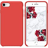 "SURPHY Funda iPhone 7 Funda iPhone 8, Carcasa Ultra Fina Silicona Suave Bumper Case Cover de Protección Flexible Cover Funda para iPhone 7 iPhone 8 contra Caídas 4.7"", Rojo"