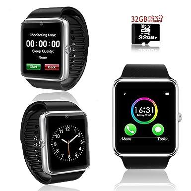 Indigi® Nueva Moda Negro Bluetooth pulsera reloj inteligente w/OLED Pantalla Identificador de llamadas