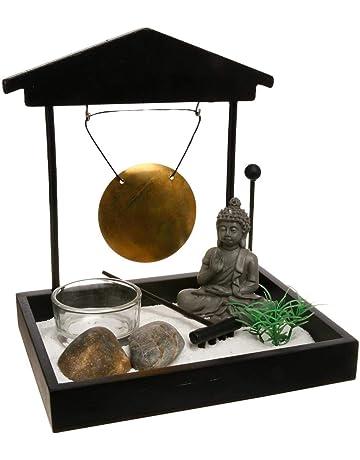 Jardín Zen - Buda con Gong en bandeja negra