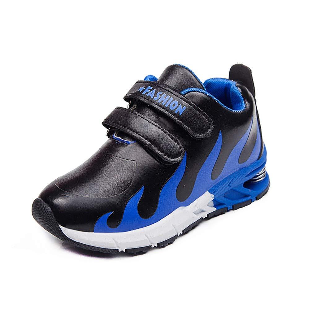 KUKICAT Baskets Enfant Unisexe Chaussures Imprimées à la Flamme, Mode Chaussure de Outdoor Sport Running Confortable Sneakers