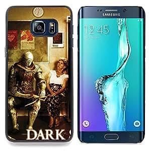 """Qstar Arte & diseño plástico duro Fundas Cover Cubre Hard Case Cover para Samsung Galaxy S6 Edge Plus / S6 Edge+ G928 (Oscuro s0ul Guerrero - Gracioso"""")"""