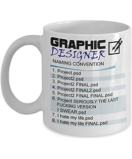 Graphic Designer   Naming Convention Mug , Best Graphic Designer Gift,  Birthday Gift