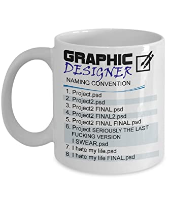 Graphic Designer - Naming Convention Mug , best Graphic Designer gift, Birthday gift
