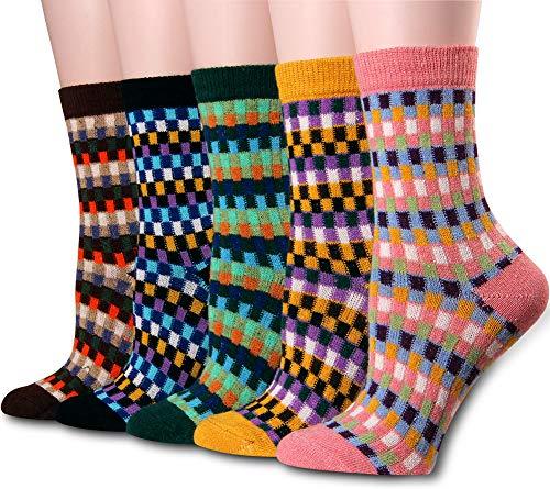 Cotton Socks Women Moisture Wicking Dress Socks Pack Of 5