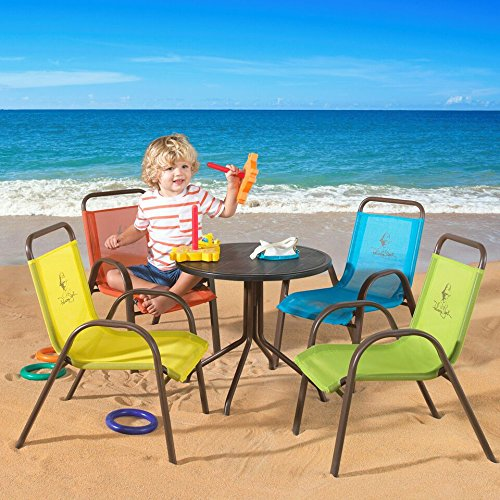 Panama Jack Kids 5-Piece Outdoor Dining Set, Multicolored by Panama Jack Kids (Image #4)