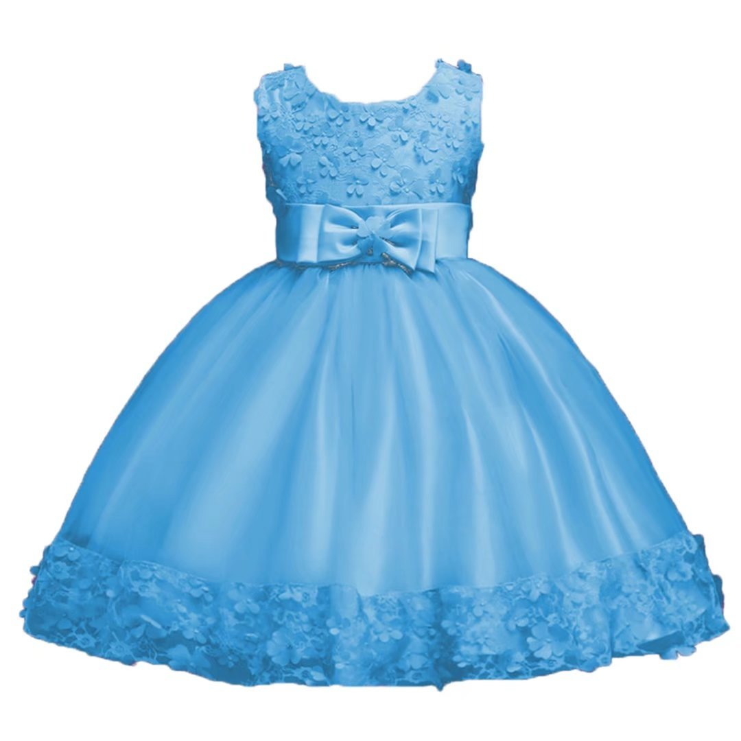 ADHS Infant Baby Girl Special Occasion Flower Butterfly Princess Elegant Lace Dresses