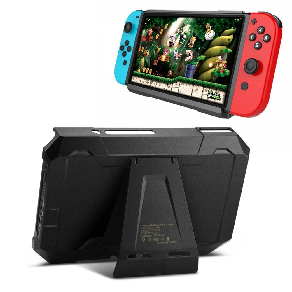 SubClap Nintendo Switch Battery Case, Protable High Capacity 8000mAh 2 in 1 External Backup Battery Power Bank Charger Case with Holder Stand Compatible with Nintendo Switch