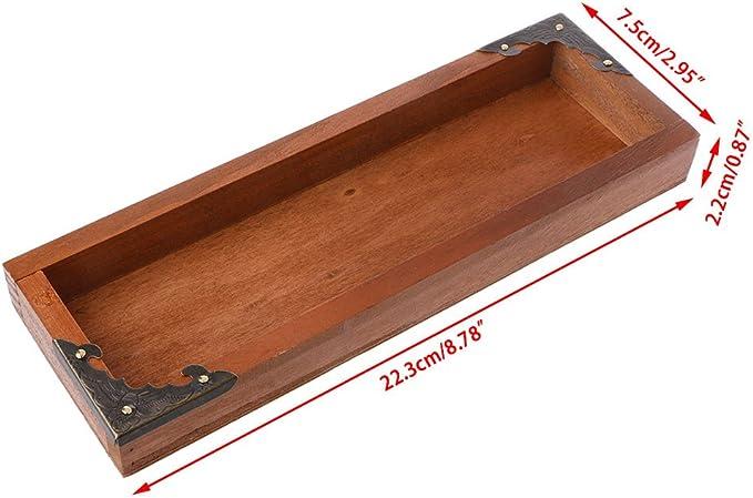 exing Maceta Macetero Jarrones pflanzer Box, rectangular de Retro de madera Carne macetas cuadrado – 22,3 x 7,5 x 2 ...