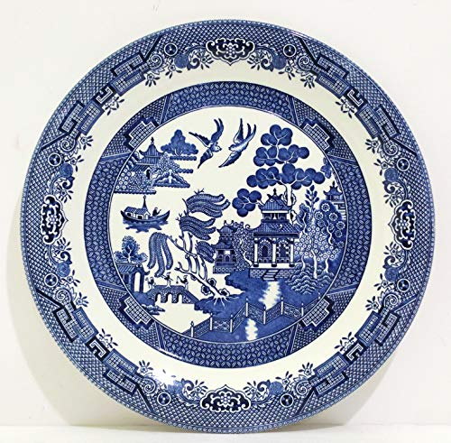 Blue Willow 12 Inch Round - Oval Platter Willow Blue