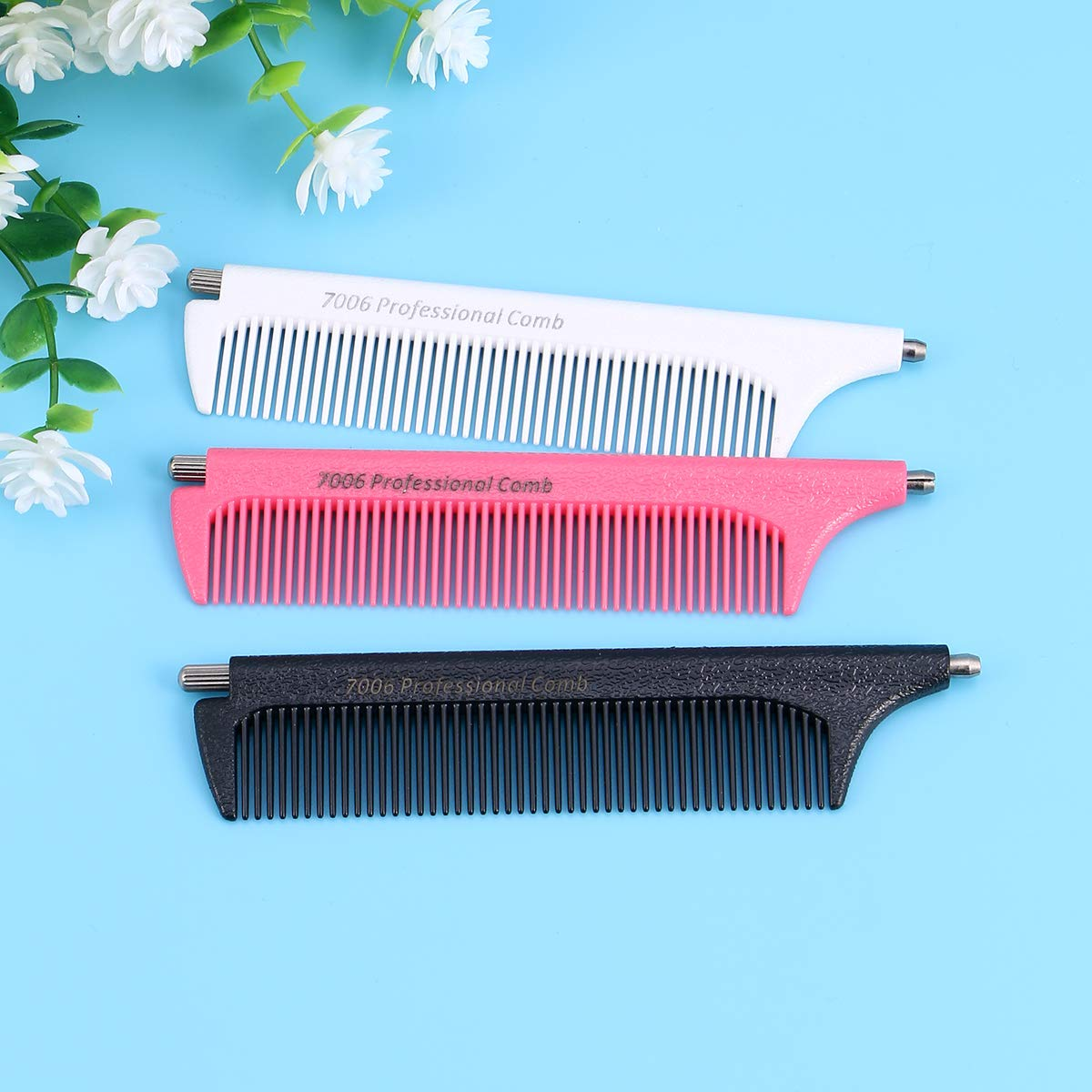 SUPVOX 3pcs pin tail comb fiber anti static heat resistant comb