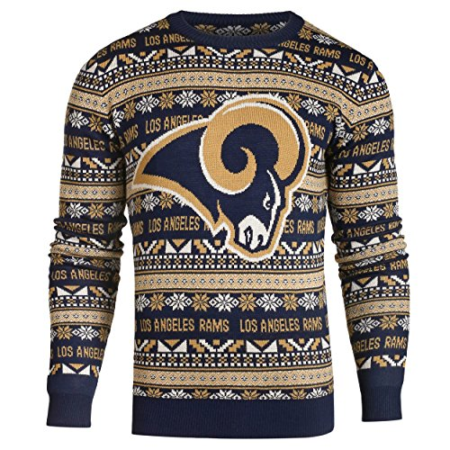 LOS ANGELES RAMS 2016 AZTEC PRINT UGLY CREW NECK SWEATER