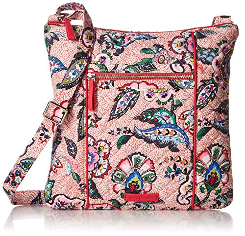 Vera Bradley Iconic Hipster, Signature Cotton, stitched Flowers ()