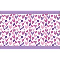 I-love-Wandtattoo Cenefa Autoadhesivo corazón de púrpura Niñas Habitación