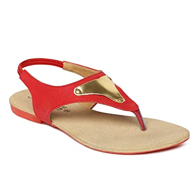 1081795c7996 PARAGON SOLEA Plus Women's Red Sandals: Buy Online at Low Prices in ...