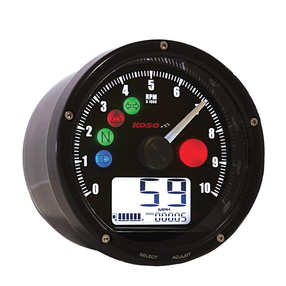 Koso BA035K00 Black TNT-01 Multifunction Speedometer