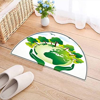 Amazon Semicircle Rugs For Bedroom Hands The Green Earth Globe