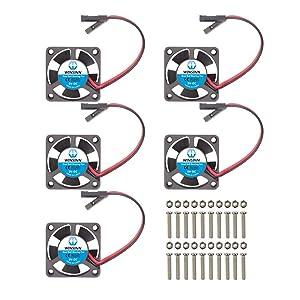 WINSINN 30mm Fan for Cooling Raspberry Pi iUniker Brushless Dual Ball Bearing 3.3V 5V 30x10mm (Pack of 5Pcs)