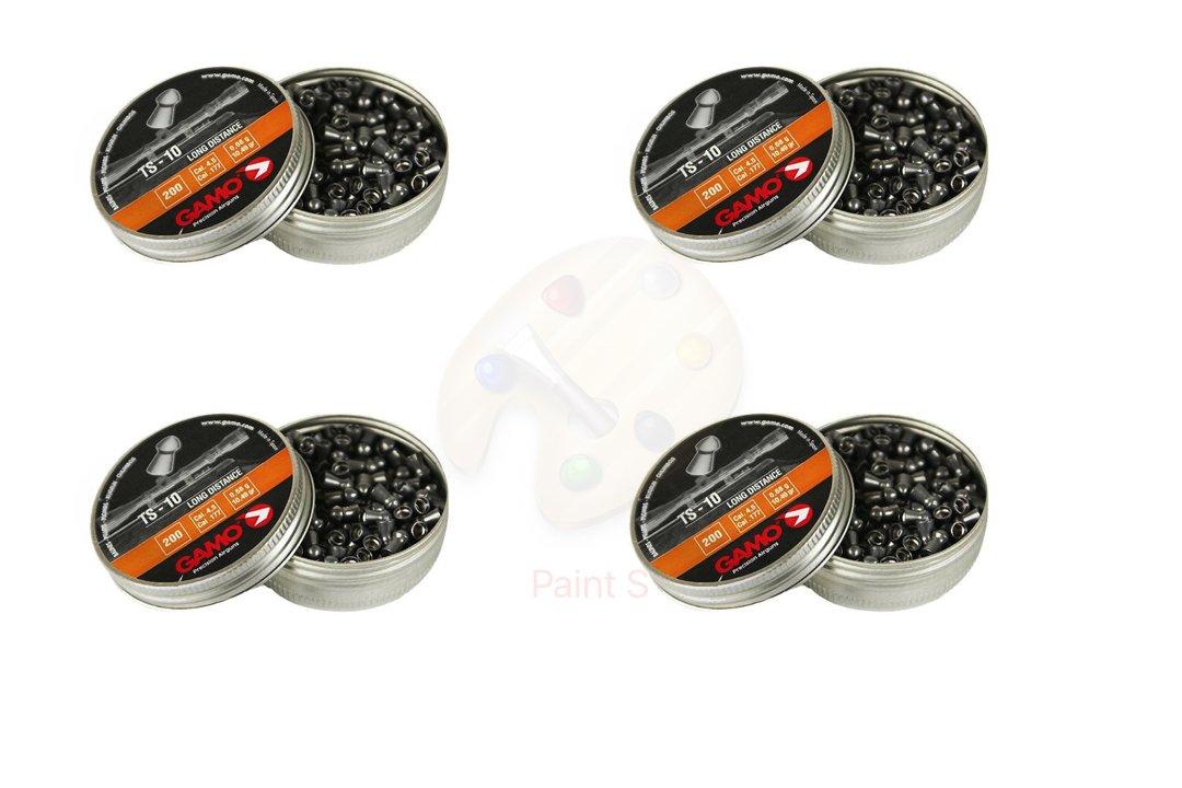 Promohobby Pack 4 latas de 200 perdigones Gamo TS-10 Long Distance 4, 5mm
