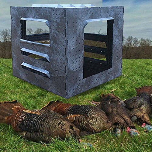 Widlife Deals Hunting Blind for Turkey, Duck, Waterfowl, Deer Hunting   Pro Quality Insulated Hunters Blind Brackets for Gun and Bow (2 Man, All Game)