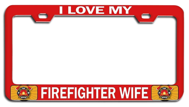 Firefighter Wife License Plate Frame Tag Holder