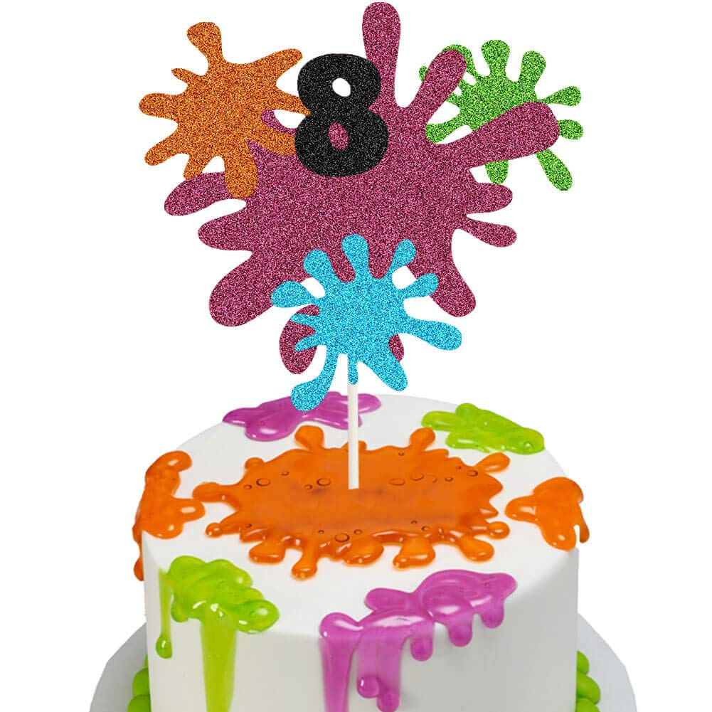 Surprising Slime 8Th Birthday Cake Topper Slime Queen Cake Decor Painting Personalised Birthday Cards Veneteletsinfo