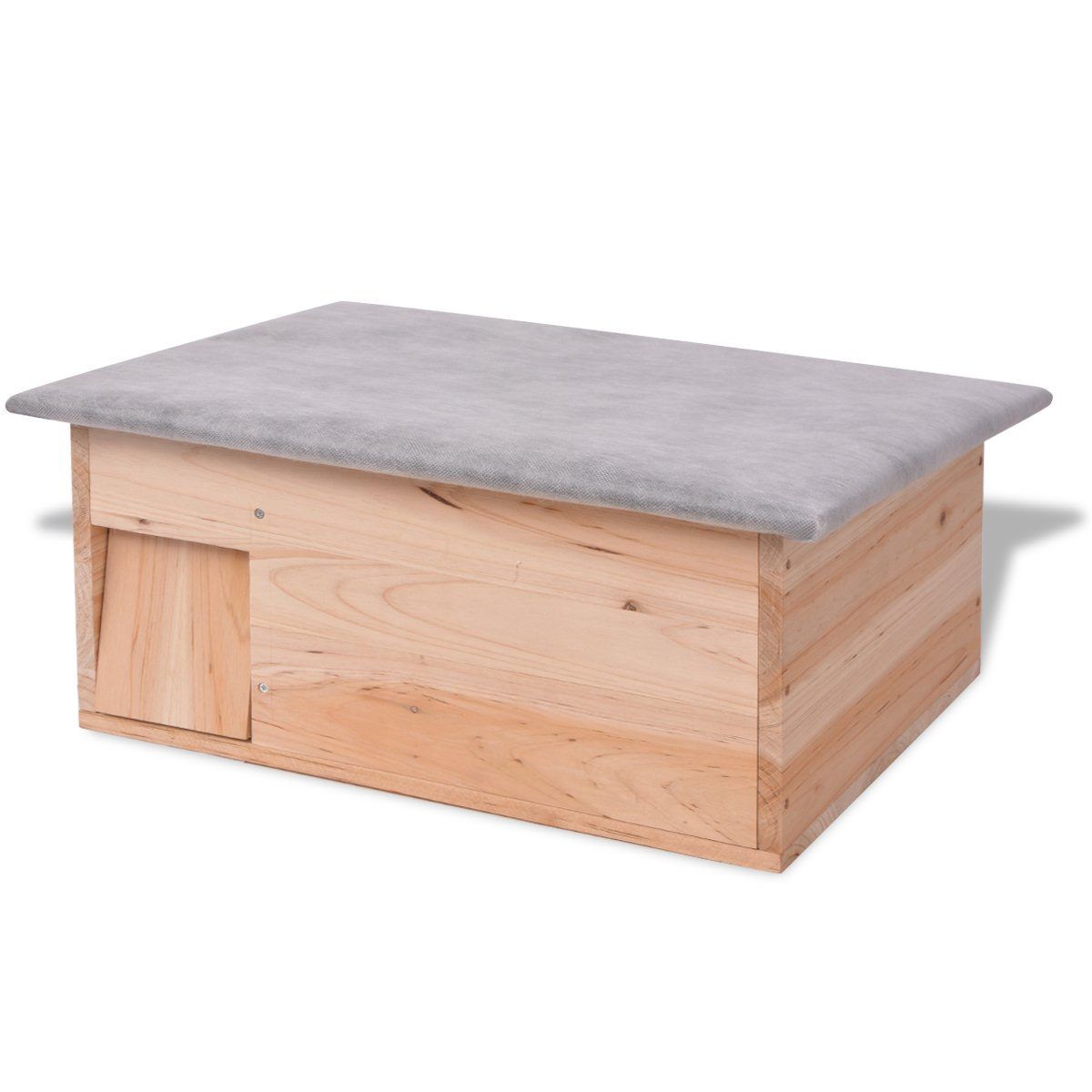 vidaXL Casa para erizos de madera 45x33x22 cm