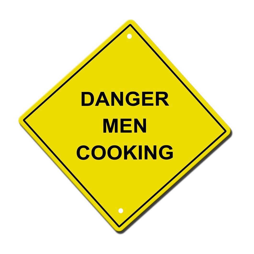 Danger Men CookingメタルアルミニウムノベルティSign 12 in x 12 in  B071YBNBBG