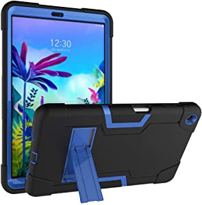 Cherrry for LG G Pad 5 10.1 inch Tablet Case, Kids Friendly Heavy Duty Shockproof Dropproof Hybrid Rugged Armor with Kickstand Full Body Protective Case for LG G Pad 5 10.1 inch 2019 (Black/Blue)