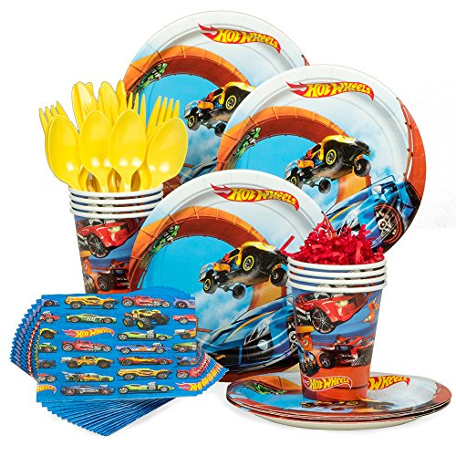 Hot Wheels Wild Racer Birthday Party Standard Tableware Kit (Serves 8)