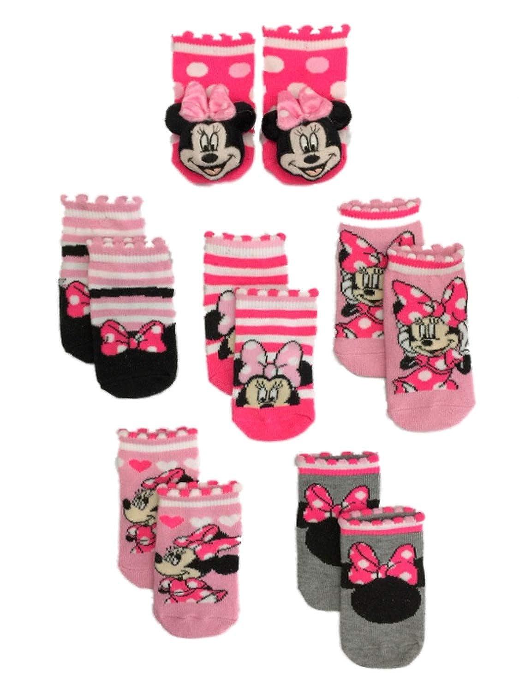 Disney Minnie Mouse Baby Girls 6-Pack Crew Socks