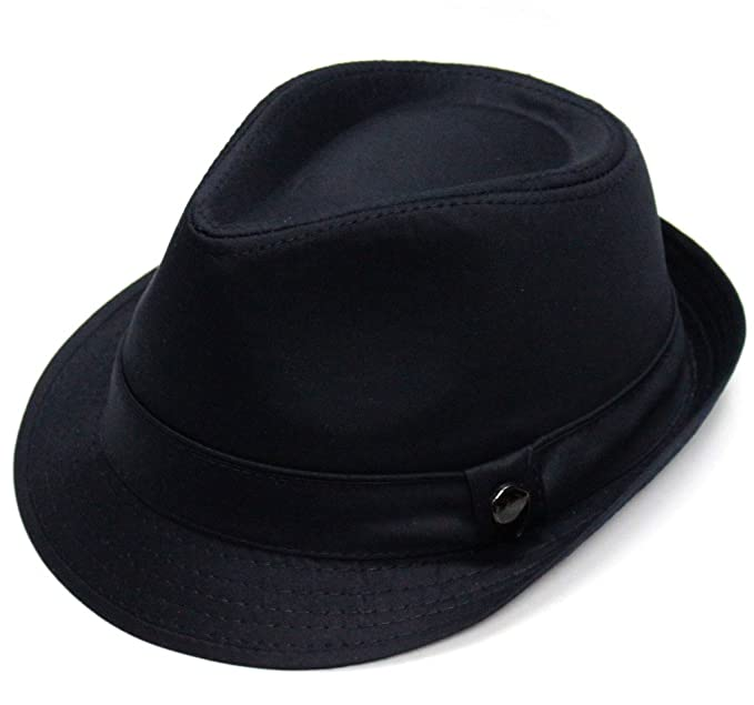 City Hunter Pmt110 Cotton Solid Trilby Fedora (5 Colors) at Amazon ... 38026c724d0