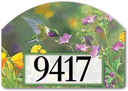 Yard DeSigns Studio M Patriotic Mailbox Spring Summer Birds Decorative Address Marker Yard Sign Magnet Superior Weather Durability 14 x 10 Inches Made in USA