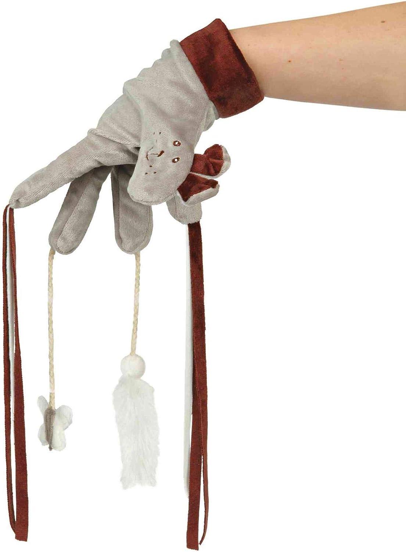 Trixie Guante Juego con Juguetes, 30cm, Color marrón, Juego de 4