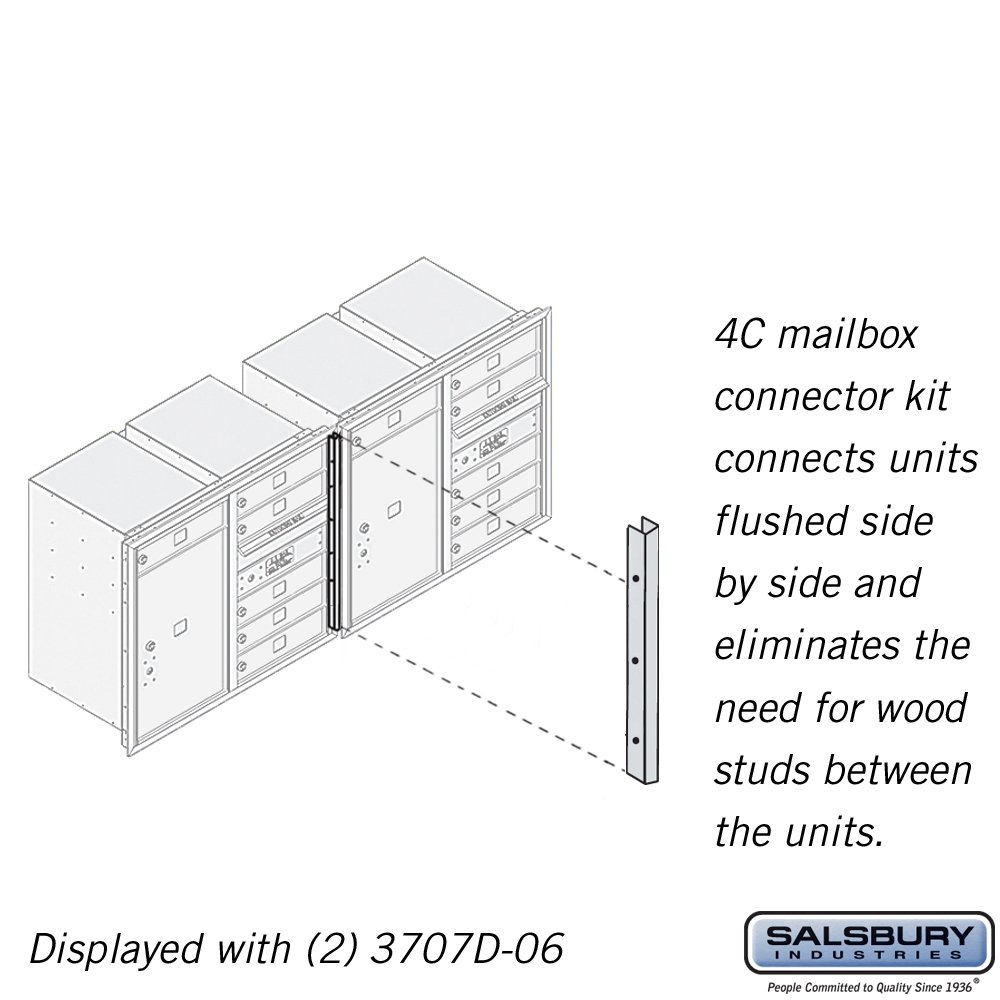 Salsbury Industries 3707CK 4C Horizontal Mailbox Connector Kit for 7 Door High Units