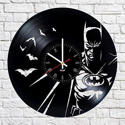 [Batman Arkham Knight Vinyl Record Wall Clock Gift For Fans Great Idea Home Decor DC Comics Vintage Decoration - Buy gift for everybody] (Poison Ivy Batman Costume Ideas)