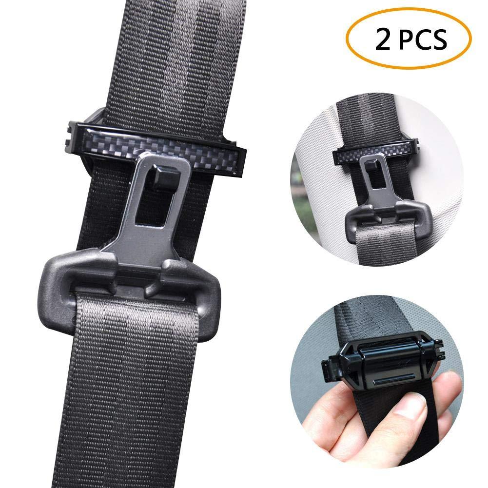 Kobwa Car Seat Belt clip per cintura cinghie regolabile chiusura fibbie di regolazione di tensione Lemon
