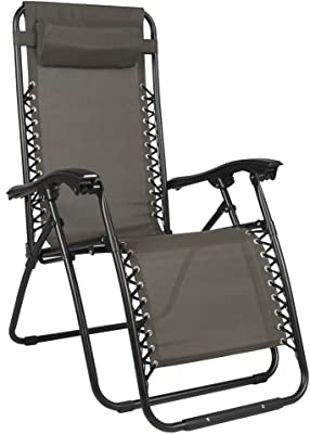Zero Gravity Relaxer Chair (Taupe) Set of 2