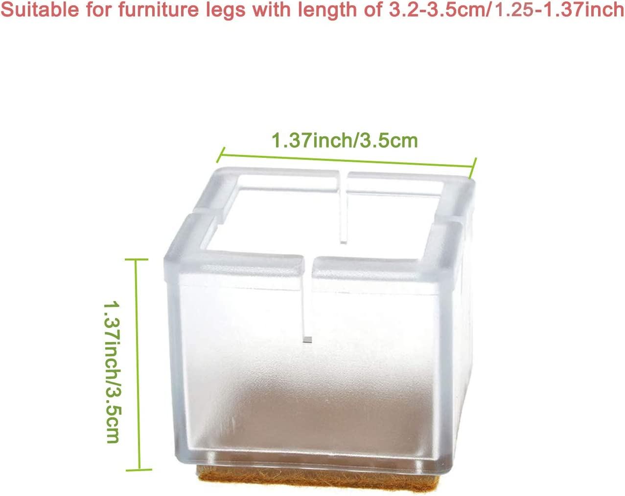 Patas de Mesa de Silicona Transparente para Patas de Muebles JWShang Protector de Suelo de Madera para Evitar ara/ñazos 24 Protectores para Patas de Silla
