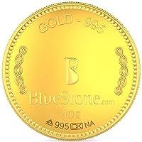 BlueStone BIS Hallmarked 10 grams, 24k (995) Yellow Gold Precious Coin